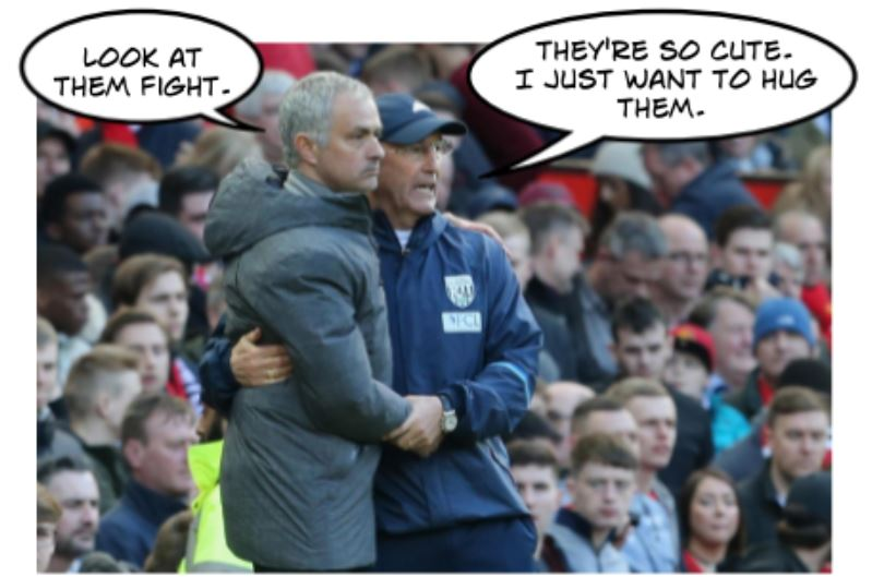 Man United fans think less of Tony Pulis' ability than his BFF Jose Mourinho