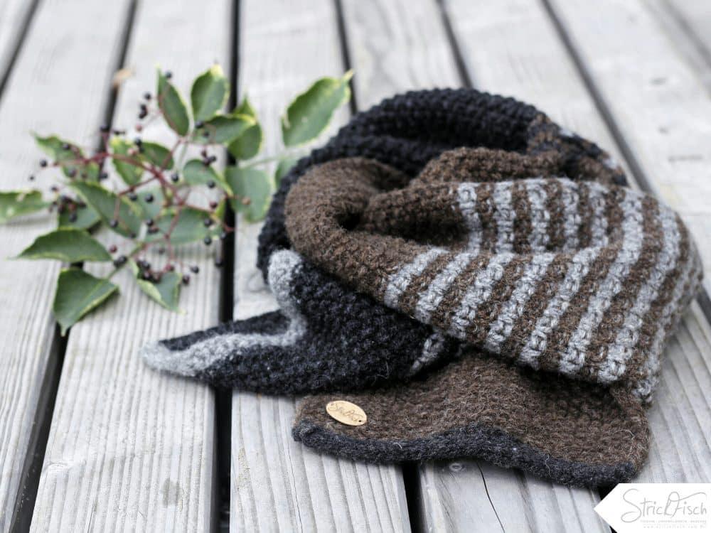 Herrenschal stricken / Schefers German Wool