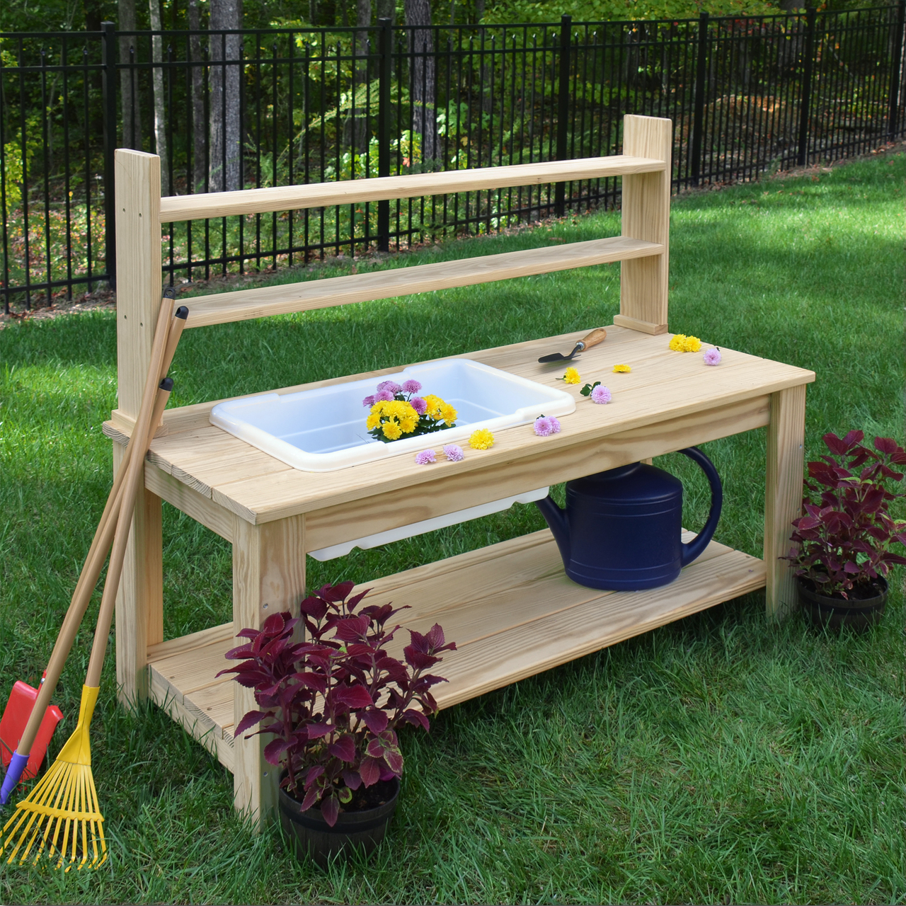 Outdoor Farmhouse Sink, with or without Hutch on Outdoor Patio Sink id=37244