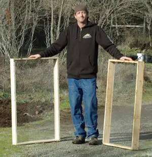 Soil Sifting Screen, Port Orford Cedar and Galvanized 1/2 inch mesh