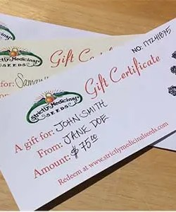 Strictly Medicinal Seeds Gift Certificate