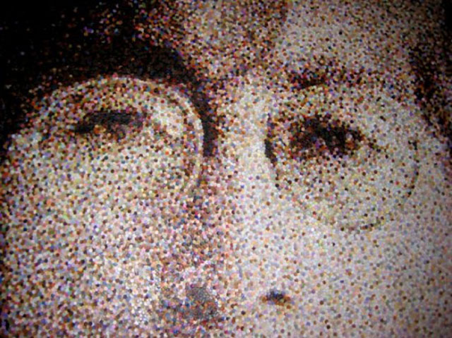 Incredible Portraits from Thousands of Paper Dots