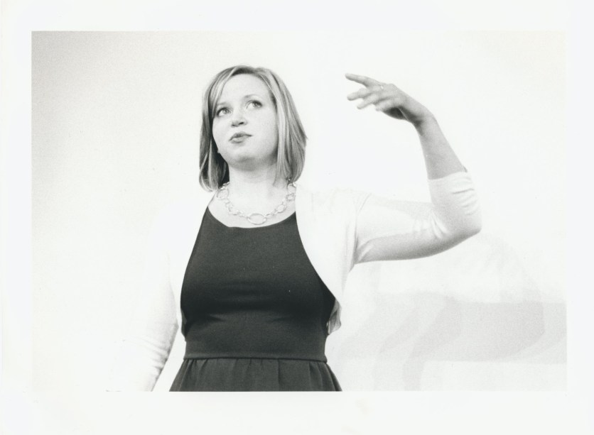 woman telling story