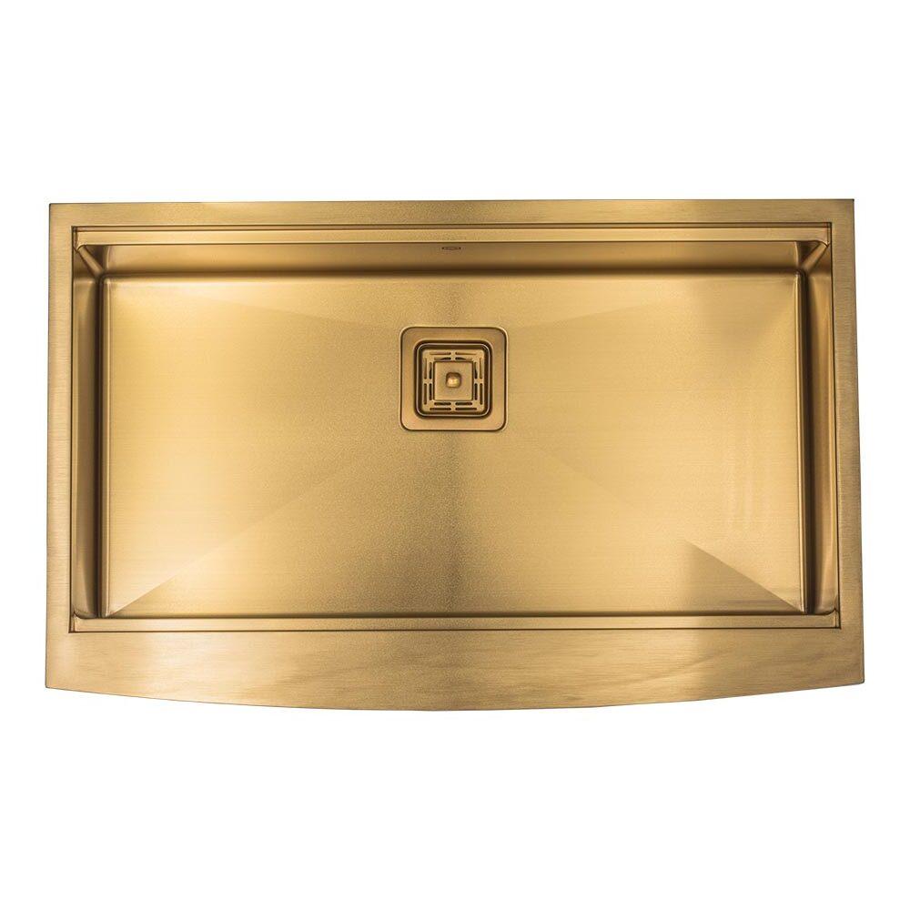 33 workstation gold farmhouse apron kitchen sink sa33s21wsg