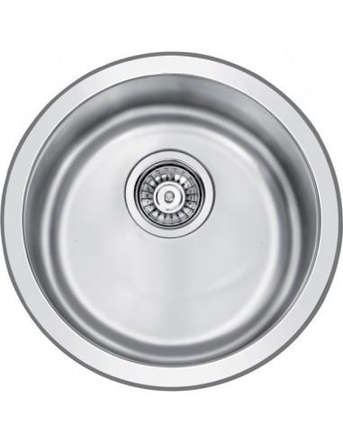 16 x 16 circular stainless steel kitchen or bar sink top mount or under mount