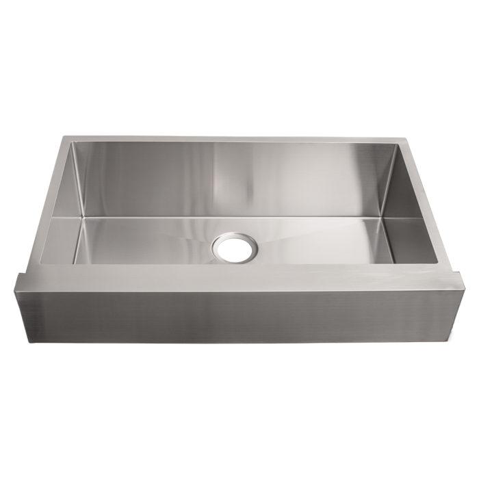 6 5 retro fit straight front single bowl stainless steel apron farmhouse kitchen sinks