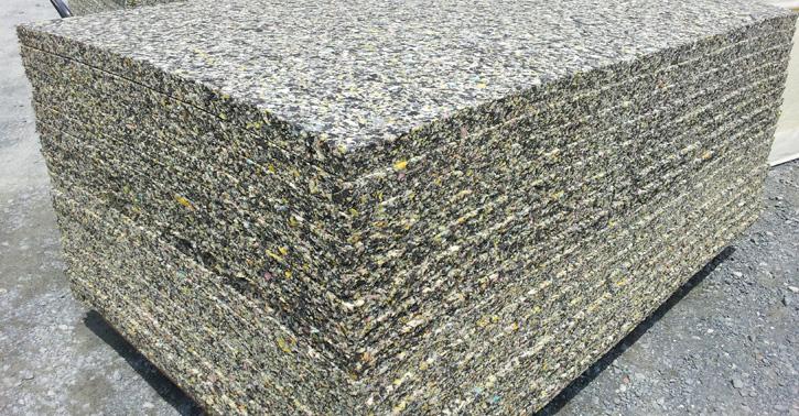 クッションや緩衝材、床材などに幅広く利用されるチップウレタン