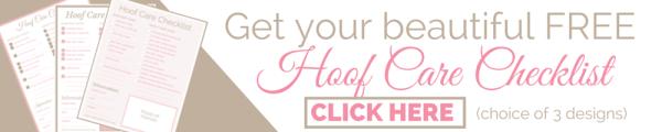 hoof Care Checklist