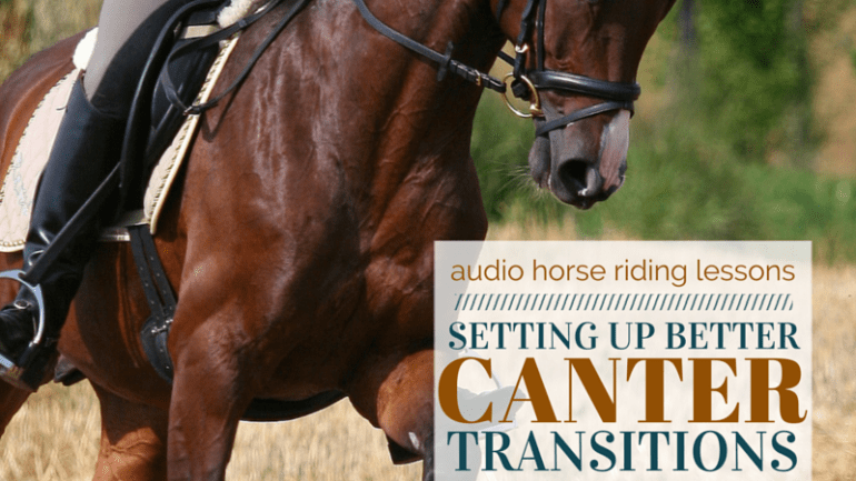Setting Up Better Canter Transitions