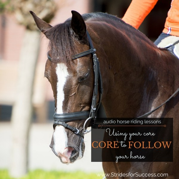 Using Your Core to Follow Your Horse