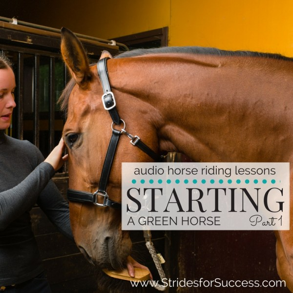 Starting a Green or Young Horse - Part 1