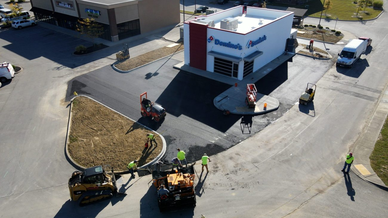 paving a parking lot in new albany
