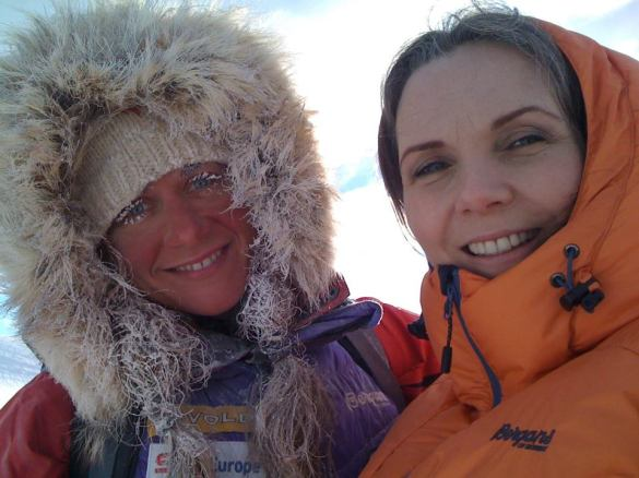 Making SFX makeup on Cecilie Skog for the Guinness Records 2011/2012. - Fastest time to complete the Three Poles challenge (female): The fastest unsupported trek to the North Pole by a female is 48 days 22 hr and was achieved by Cecilie Skog (Norway).