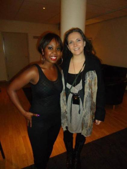 One of the bakcsingers I do the makeup for, before the performance with Miss Lauryn Hill. 2013
