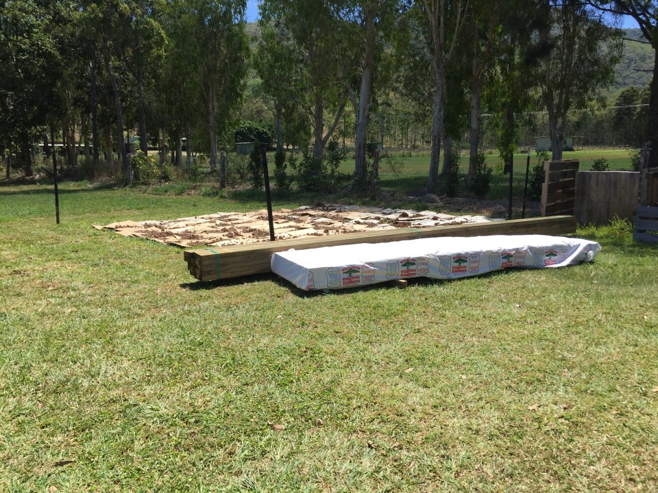 Planks for the garden, and Termiflor for the interior walls.
