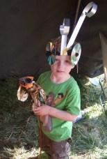 Corin in costume