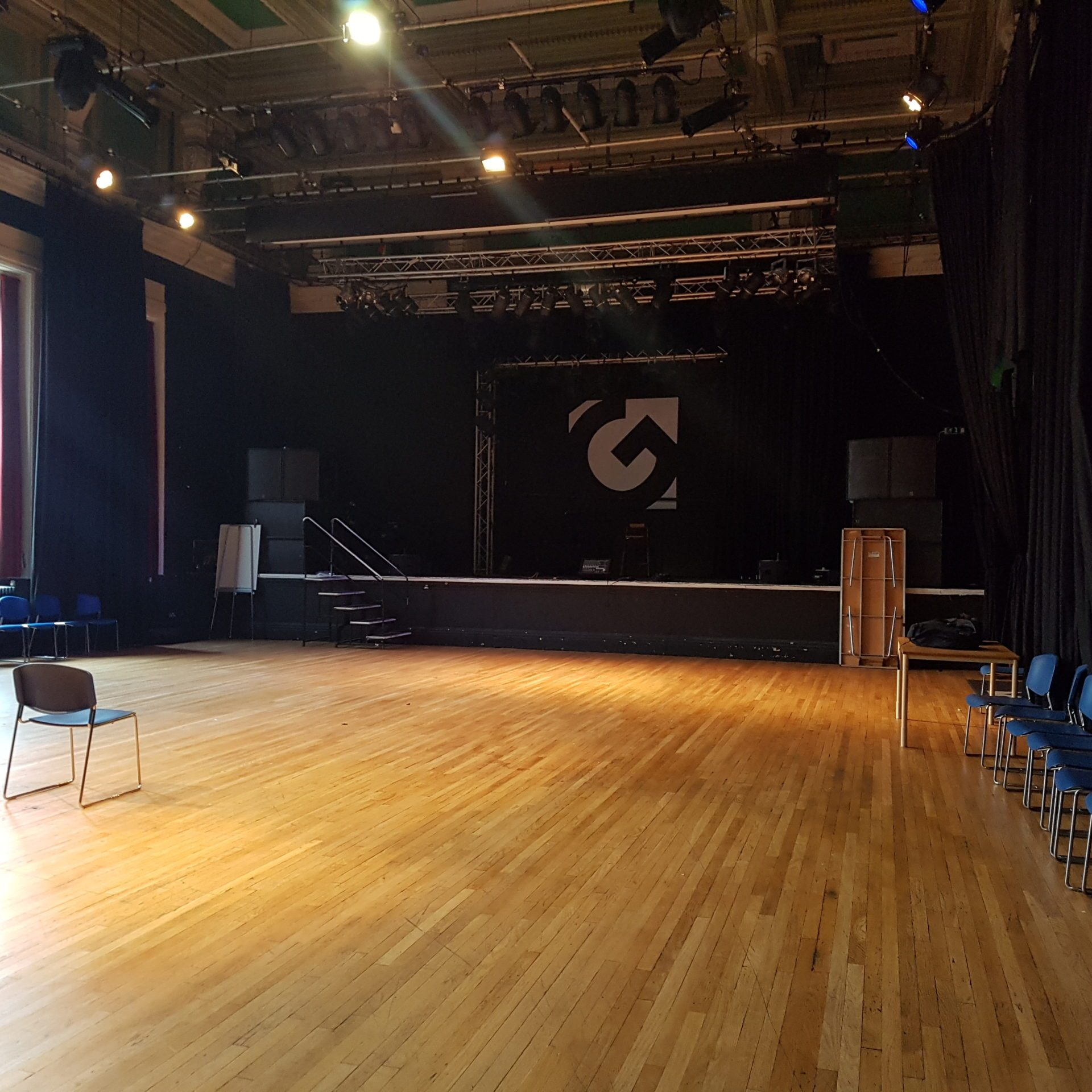 A photograph of the Gloucester Guildhall's The Hall space.