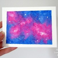 How to Paint a Galaxy in Watercolor (Beginner Tutorial)