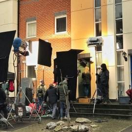 Filming on Blondin Street