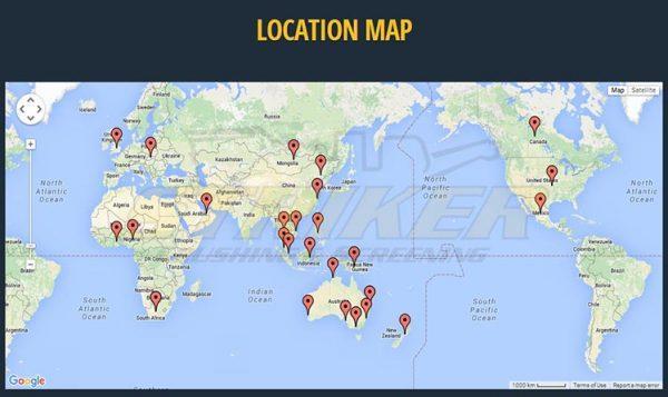 Striker locations