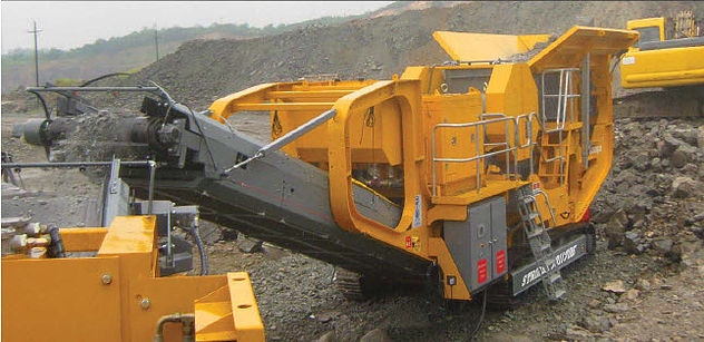 Striker Track Jaw Crusher