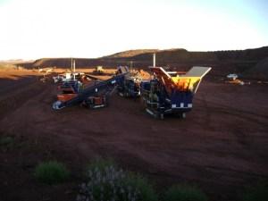 Striker crushing and screening HWE and BHP mines