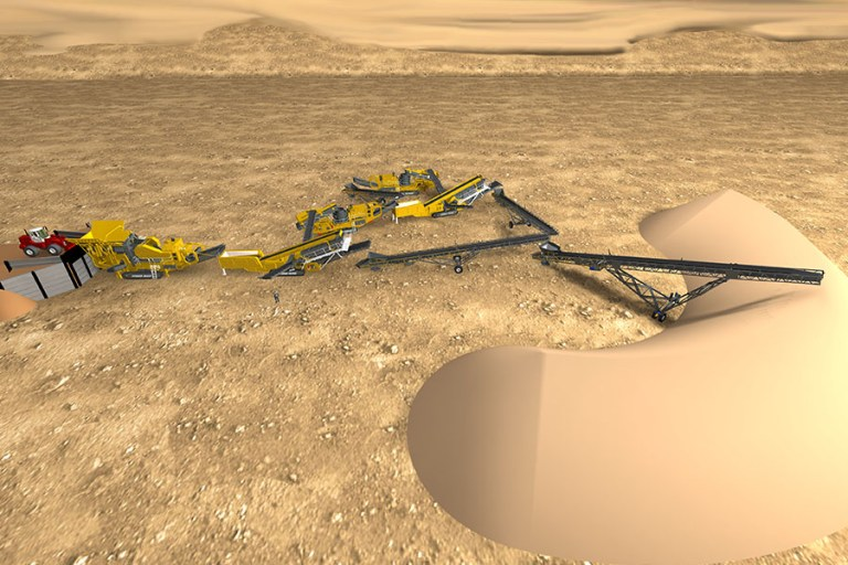 Striker 3D crushing & screening plant layout