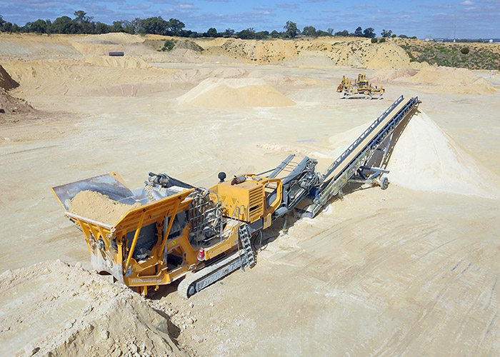 Striker Impact Crusher processing Australian Limestone