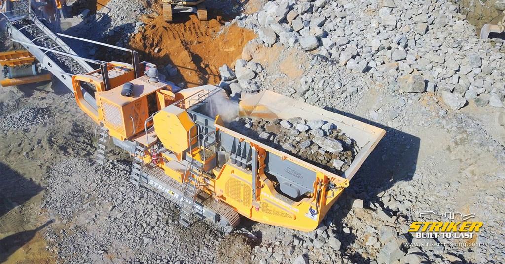 Striker JQ1060 mobile jaw crusher Australia