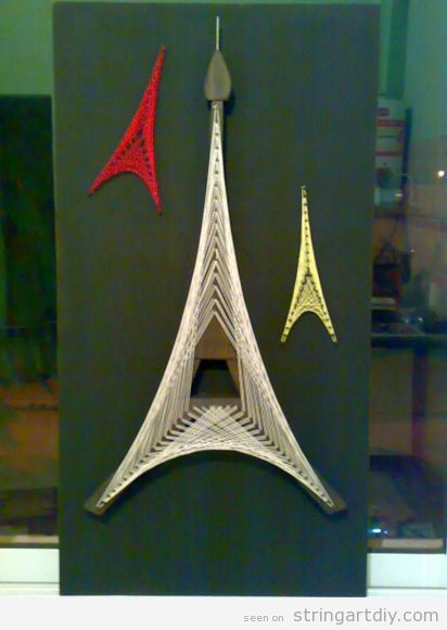 Tour Eiffel String Art String Art Diy Free Patterns