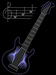 Guitar pattern added at String Art Fun website