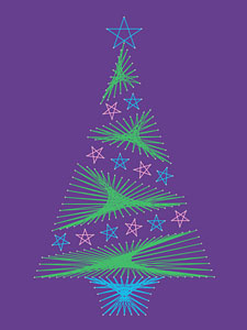 Christmas tree pattern added at String Art Fun website