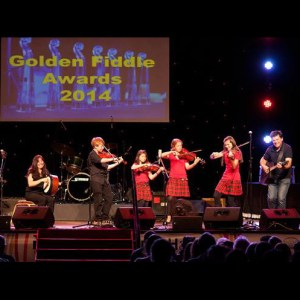 Performing at the Golden Fiddle Awards 2014
