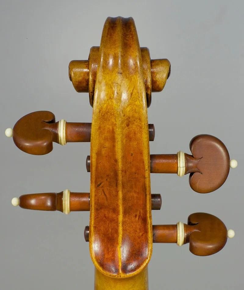Strad model violin scroll-Joseph Curtin