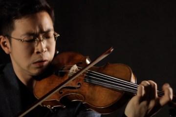 violinist Paul Huang performs on Guarneri del Gesu