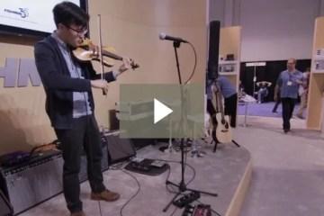 Violinist Joe Kye at the Fishman Booth at NAMM