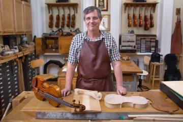 christopher germain at oberlin violin making workshop