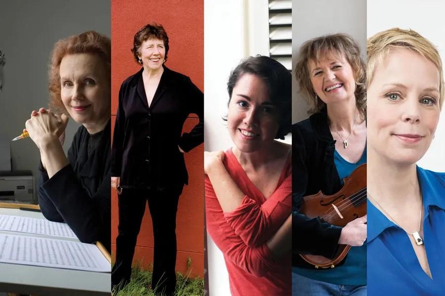 Female Composers Kaija Saariaho, Joan Tower, Sally Beamish and Augusta Read Thomas