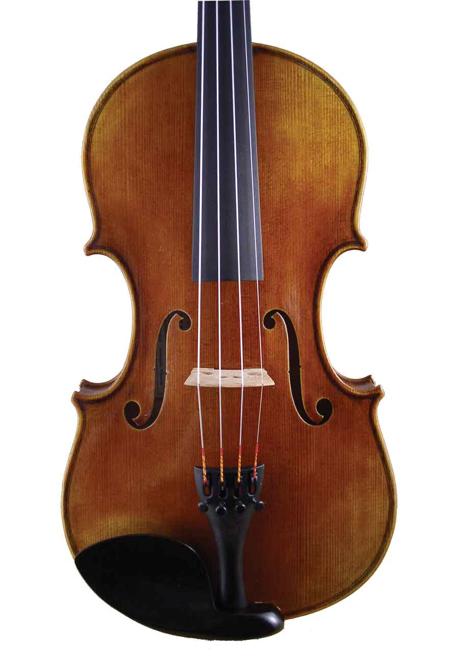Acoustic Electric Strings Old No. 54 acoustic-electric violin front view