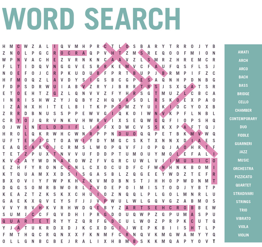 047 -  Word Search Answers