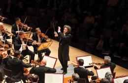 Los Angeles Philharmonic music director Gustavo Dudamel conducting the symphony