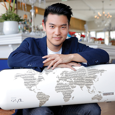 """Ray Chen's """"World Case"""" in partnership with Gewa Strings"""