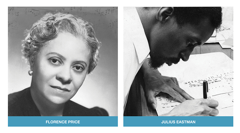 Composers Florence Price and Julius Eastman