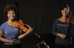 Violinists Melissa White and Elena Urioste