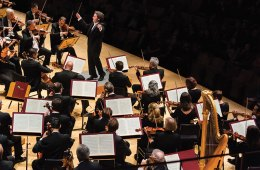 The L.A. Philharmonic led by concertmaster Gustavo Dudamel