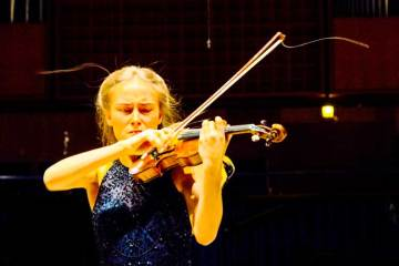 Violinist Anna Agafia Egholm at the 2019 Carl Nielsen International Competition, which has banned teachers from its violin jury