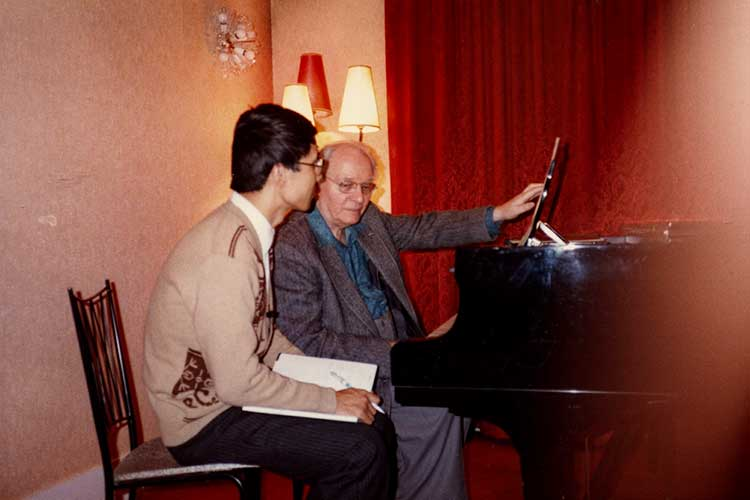Chen with Olivier Messiaen