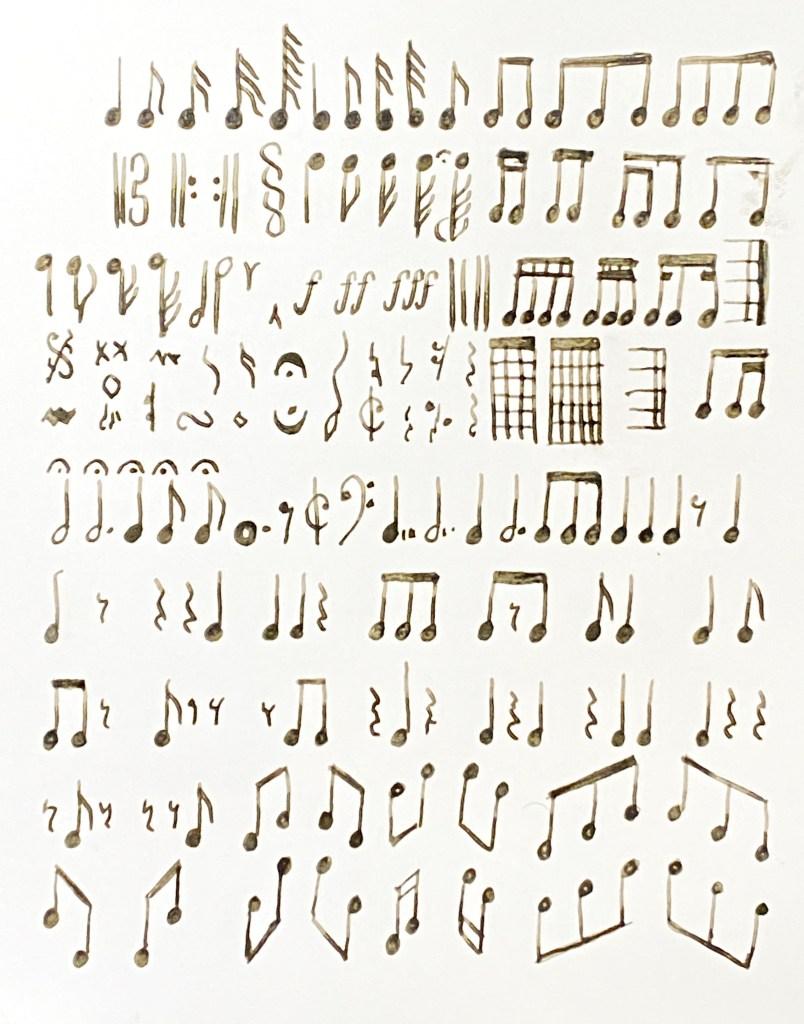fountain pen musical score