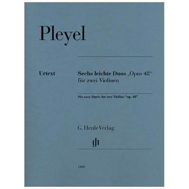 Pleyel Six Easy Duos for Two Violins, Op. 48 sheet music