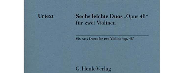 Pleyel Six Easy Duos for Two Violins Op. 48. G. Henle Verlag